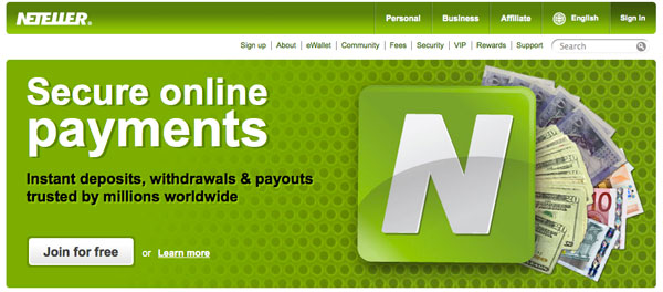 Betting with Neteller