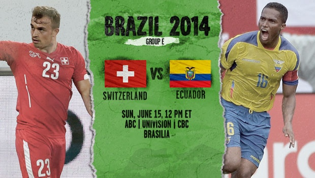 Switzerland-Ecuador preview - World Cup 2014