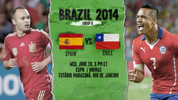 Spain-Chile preview - World Cup 2014