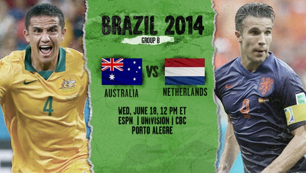Australia-Netherlands preview - World Cup 2014