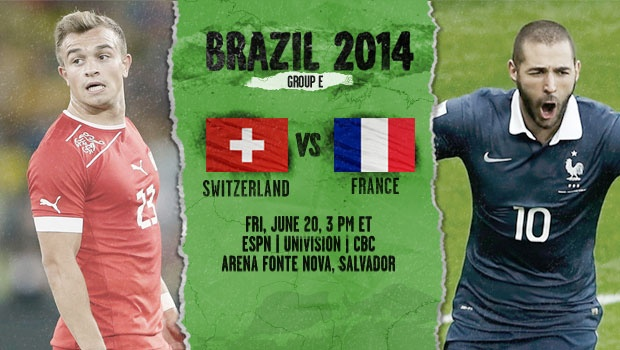 Switzerland-France preview - World Cup 2014
