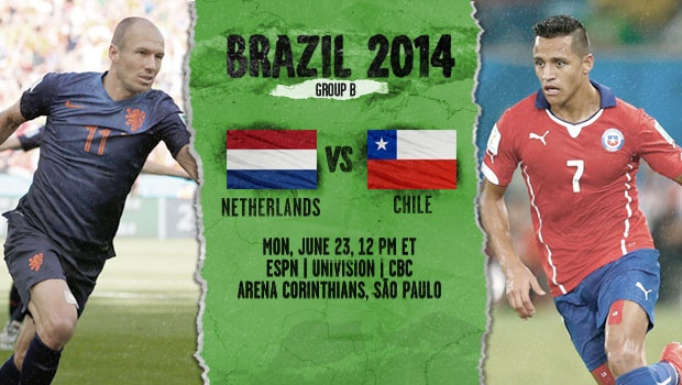 Netherlands-Chile preview - World Cup 2014