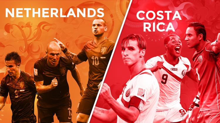 Netherlands-Costa Rica preview - World Cup 2014