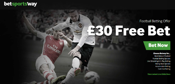 Betway £30 free bet offer