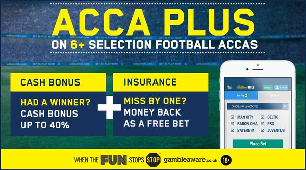 William Hill acca plus accumulator bonus