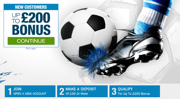 ​Winner First Deposit Bonus - Get £200 Free Bet