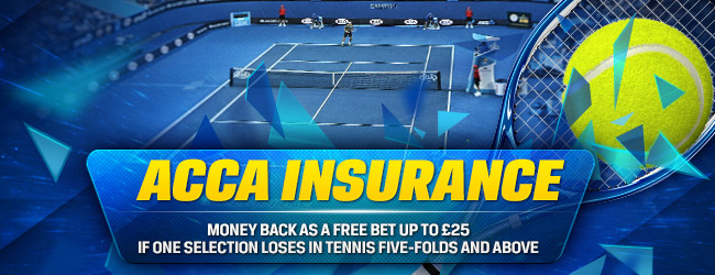 Coral offers tennis acca insurance