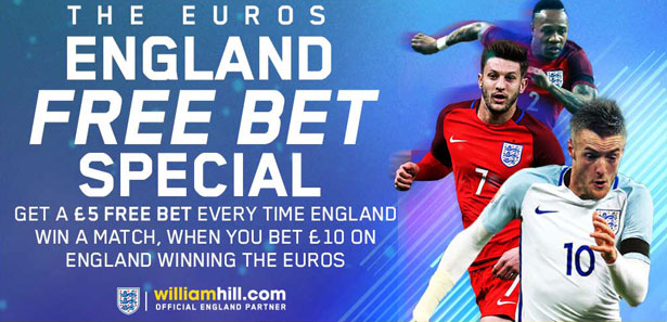 ​William Hill England Euro 2016 Free Bet Special