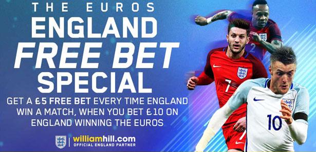William Hill England Euro 2016 Free Bet Special - Betstudy com