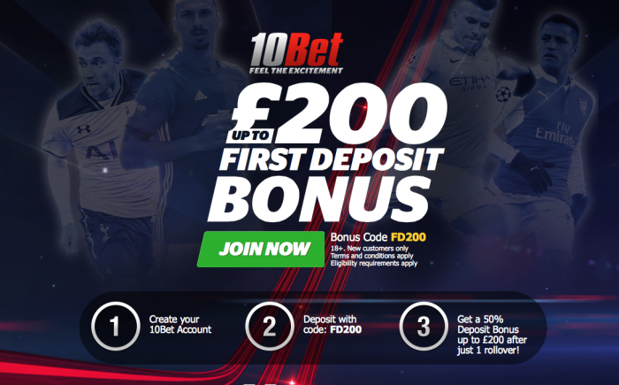 10bet sign up offer