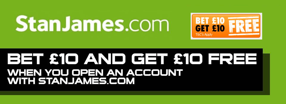 Stanjames £10 free bet offer